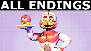 FNAF 6 - ALL ENDINGS - Freddy Fazbear