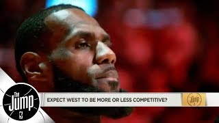 Will Western Conference be more or less competitive with LeBron James on Lakers? | The Jump | ESPN