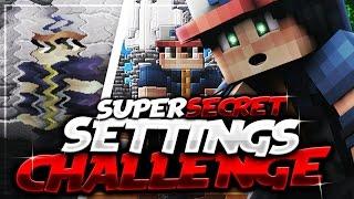 SUPER SECRET SETTINGS CHALLENGE (Minecraft Skywars)