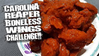 CAROLINA REAPER BONELESS WINGS CHALLENGE │ WORLD
