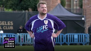 James Corden Challenges LAFC To Soccer Match