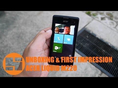 Unboxing & First Impression Acer Liquid M220 Indonesia