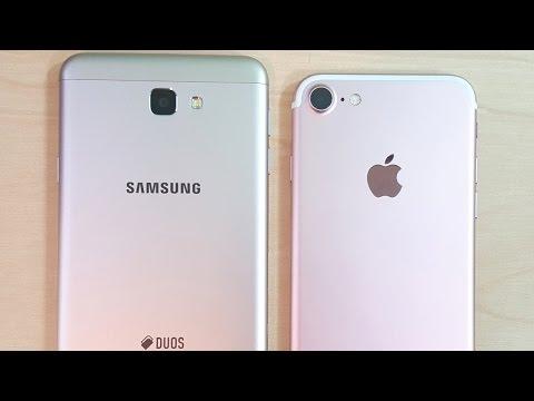 Samsung Galaxy J7 Prime vs iPhone 7