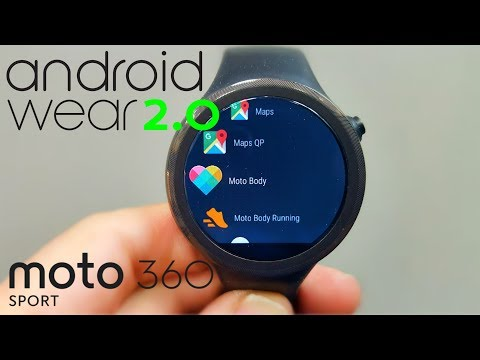 Android Wear 2.0 on the Moto 360 Sport! (FINALLY!)