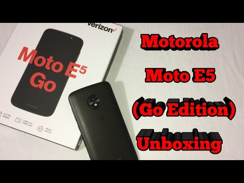 Moto E5 Go Unboxing & Mini Review!!! (Android Go Edition)