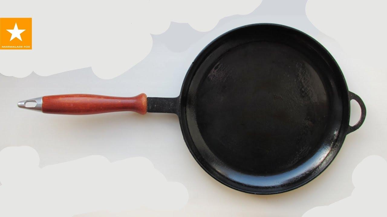 Правила пользования чугунной сковородой гриль 19 фотография