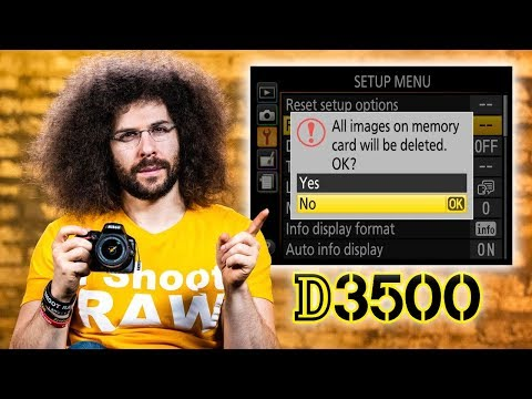 Nikon D3500 User's Guide | Tutorial for Beginners (How to set up your camera)