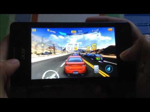 Acer Liquid M220 Game Test - Asphalt 8 (Windows Phone 8.1)
