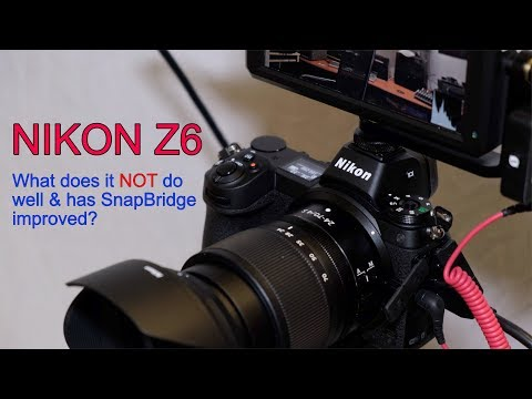 Nikon Z6. What does it NOT do well & has SnapBridge improved?