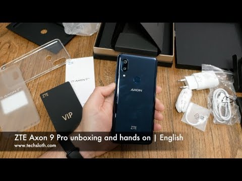 ZTE Axon 9 Pro unboxing and hands on | English