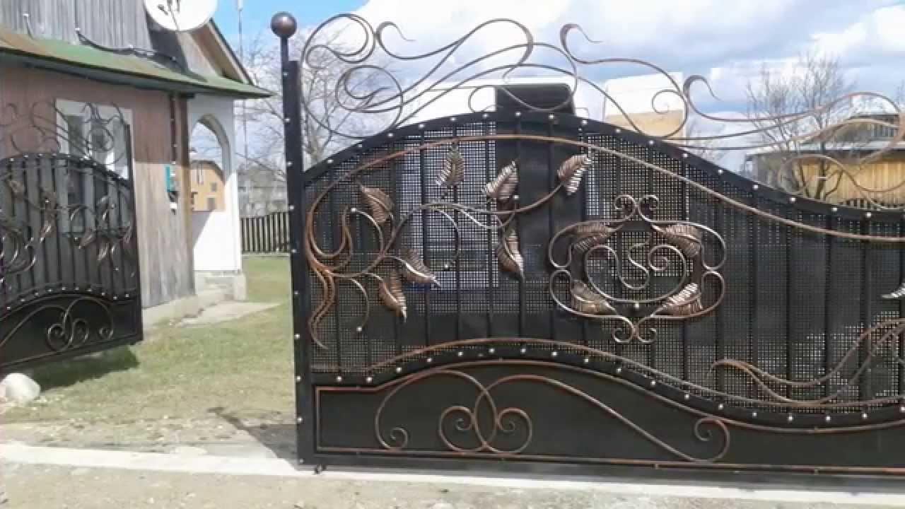 Ворота иванков ворота из профнастила распашные чертежи фото