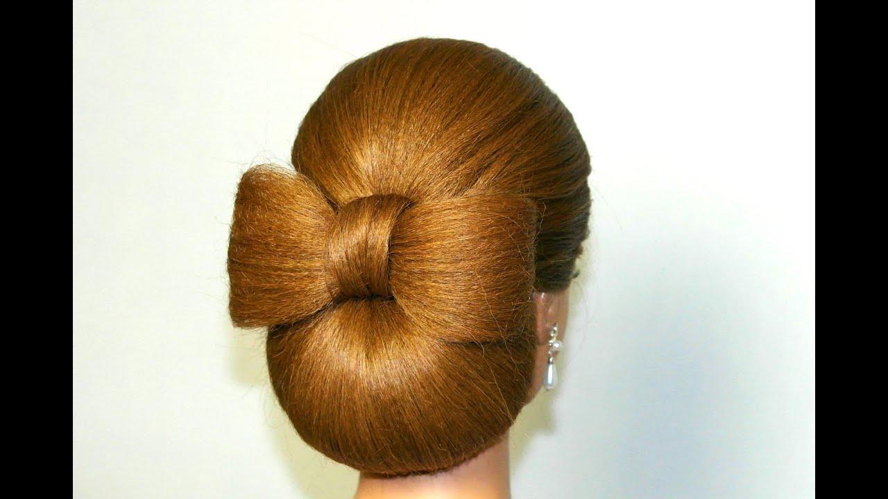 Прическа бант на длинные волосы 8 фотография