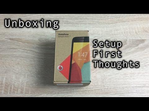 Vodafone Smart Mini 7 Unboxing and Setup