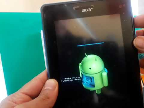 HARD RESET TABLET ACER ICONIA B1-A71