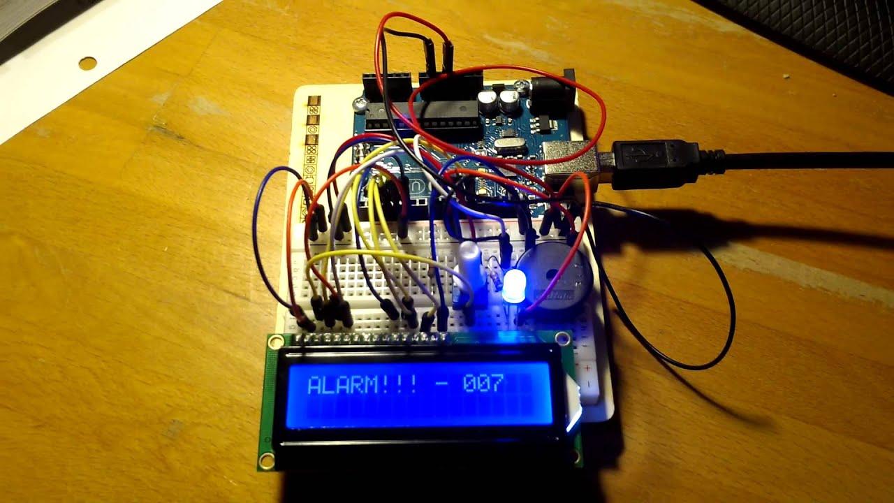 ARDUINO DIGITAL CLOCK LCD DISPLAY - YouTube