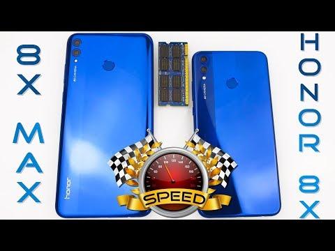 Honor 8X MAX vs Honor 8X Speed Test