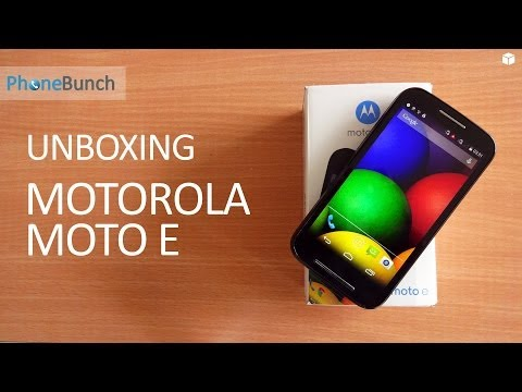 Motorola Moto E Unboxing and Hands-on Overview