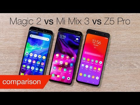 Honor Magic 2 vs Xiaomi Mi Mix 3 vs Lenovo Z5 Pro