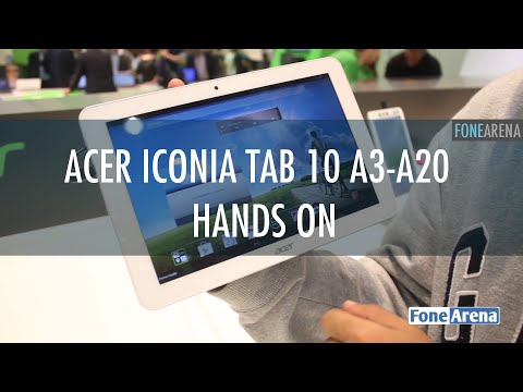 Acer Iconia Tab 10 A3-A20 Hands On