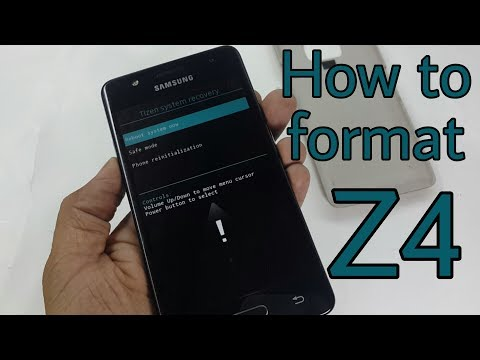How to format Samsung Z4 Tizen