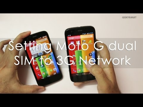 Forcing Moto G dual-sim to work on 3G connection