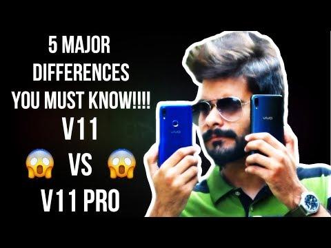 Vivo V11 V.S V11 Pro | 5 Major Differences You must Know | Camera Test/Samples | Fingerprint Test 😎