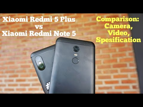 Comparison Xiaomi Redmi Note 5 vs Redmi 5 plus ( camera, video, spec) Indonesia