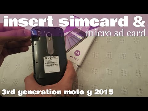 Motorola Moto G 3rd Gen How To insert sim card & Micro Sd Card