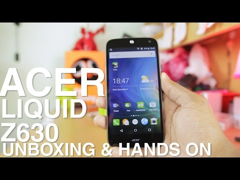 Acer Liquid Z630 Unboxing and Hands on