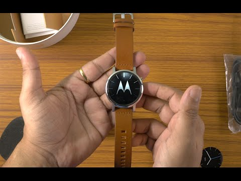 Moto 360 2nd Gen - 42mm Brown Unboxing in 4K