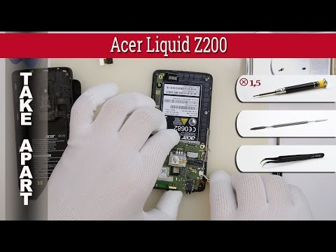How to disassemble 📱 Acer Liquid Z200 Take apart Tutorial