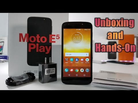 Moto E5 Play Unboxing and Hands-On