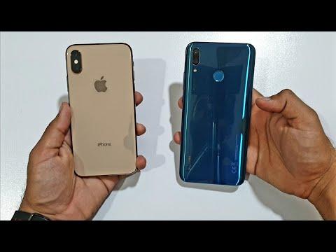 iPhone XS vs Huawei Y9 2019 - Speed Test! (4K)