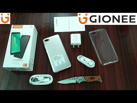 GIONEE F205 UNBOXING