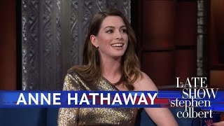Anne Hathaway Rewatches Her First Commercial