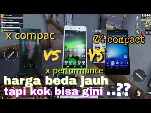 Sony z4 compact VS sony X compact VS sony X performance game pubg