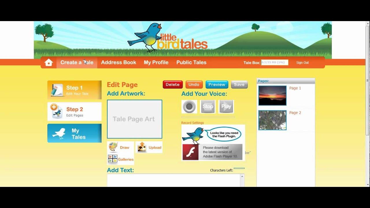 Littlebirdtales:  создаем аудио-истории