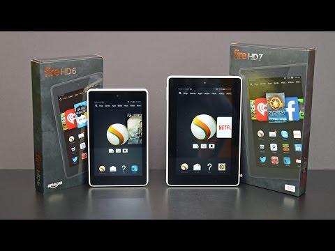 Amazon Fire HD 6 vs HD 7: Unboxing & Review