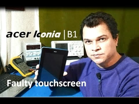 Tablet Acer Iconia B1-A71 with faulty touchscreen